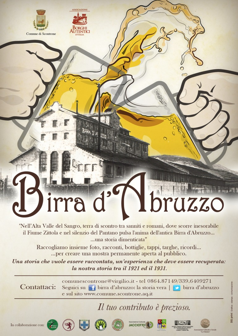 Birra d'Abruzzo: Scontrone si mobilita e lancia l'appello al recupero