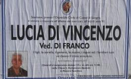 Castel di Sangro, si è spenta Lucia Di Vincenzo