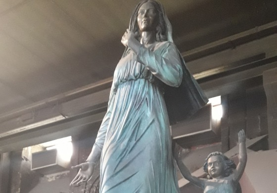 La madonna di Castelpetroso al restauro nella pontificia fonderia di Agnone