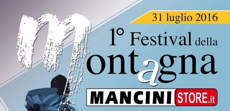 1° festival della montagna a Castel di Sangro, organizza 'Mancini Store'