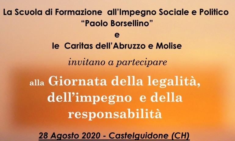 """Castelguidone, Giornata della """"Legalità, dell'impegno e della responsabilità"""": venerdì 28 agosto"""