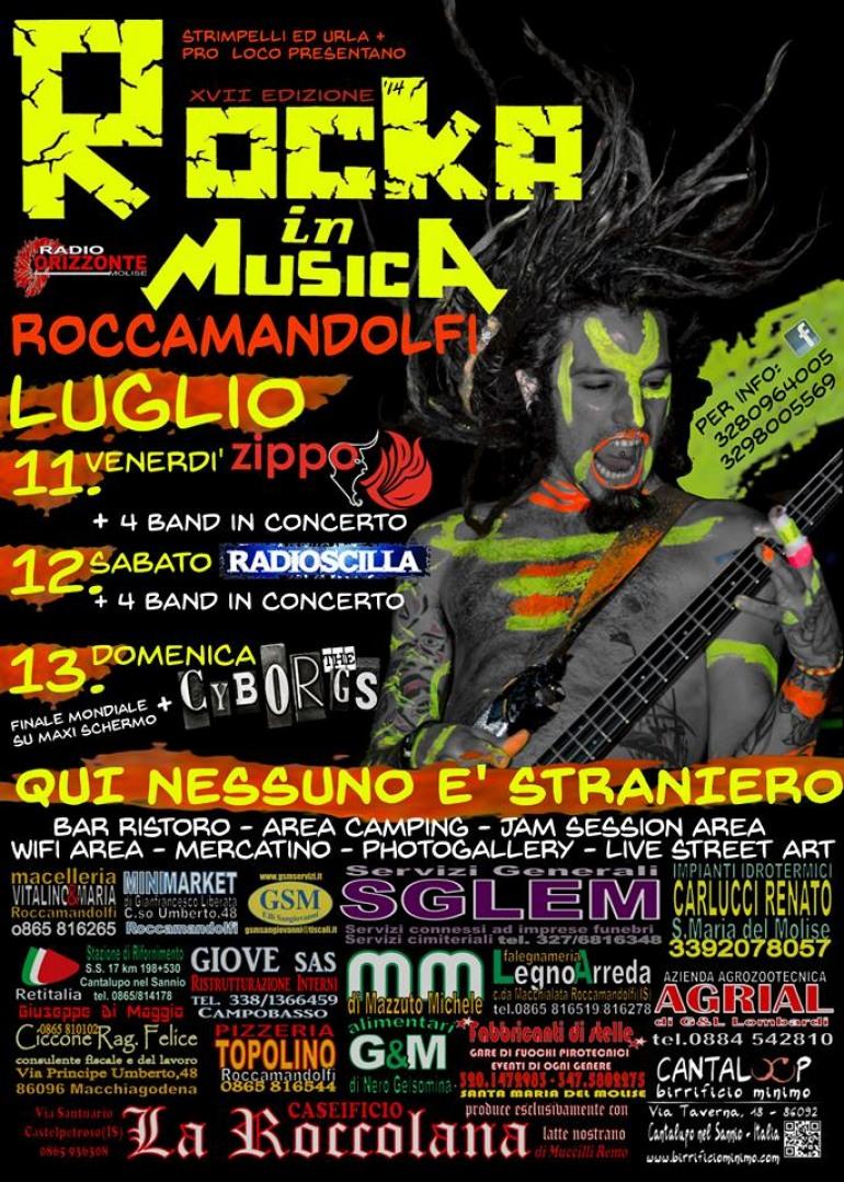 """Roccamandolfi, torna il """"Rocka in Musica"""". Migliaia di giovani sotto il Matese dal 11 al 13 luglio"""