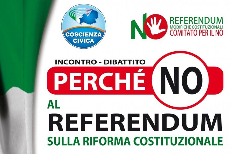 Riforma costituzionale, 'Coscienza Civica' dice No: dibattito a Campobasso il 24 settembre