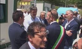 """Gamberale, Marsilio visita il cantiere della fondovalle Sangro: """"Apriremo in tempi brevi la Sp88"""""""