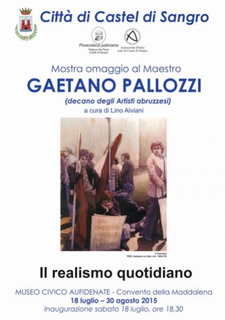Castel di Sangro rende omaggio al Maestro Gaetano Palozzi, sabato 18 l'inaugurazione della Mostra