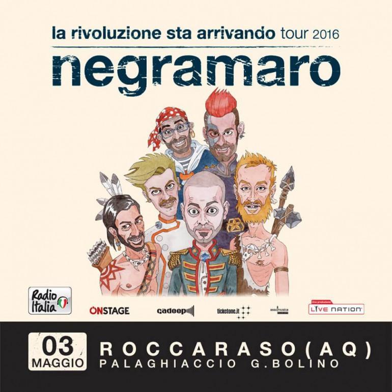 Negramaro, data zero a Roccaraso: 3 Maggio al Palaghiaccio G. Bolino