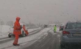 Neve in Alto Sangro, viabilità sicura sulle strade della provincia dell'Aquila