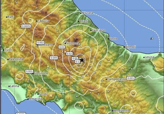 Terremoto a Capracotta: scossa di magnitudo 3.0 non si registrano danni