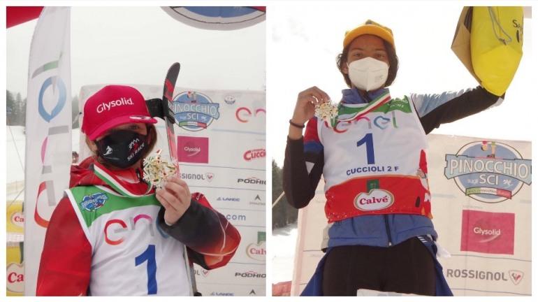 Pinocchio sugli sci, Ginevra di Pasquale e Giada d'Antonio conquistano le medaglie d'oro
