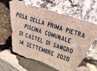 La piscina a Castel di Sangro diventa realtà, posata la prima pietra