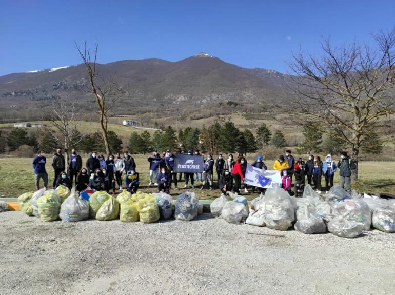 Plastic Free Alto Sangro: oltre 1,5 tonnellate di rifiuti raccolti a Castel di Sangro