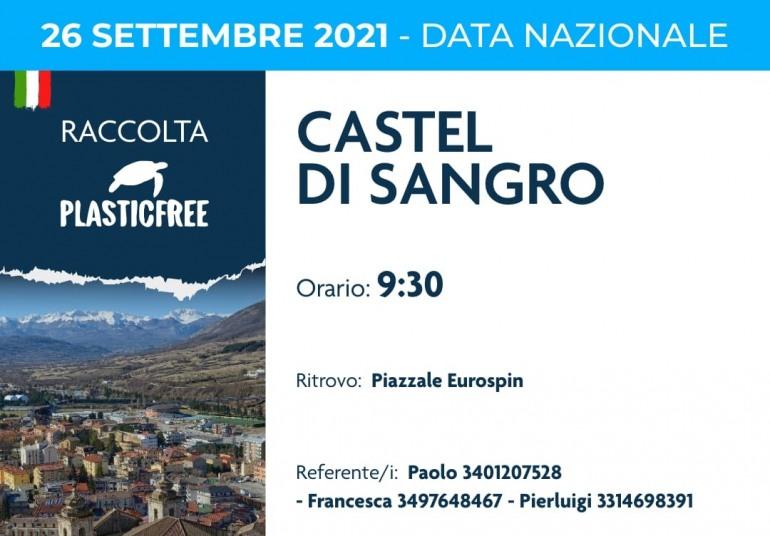 Plastic Free Onlus: seconda data nazionale, domenica 26 appuntamento a Castel Di Sangro