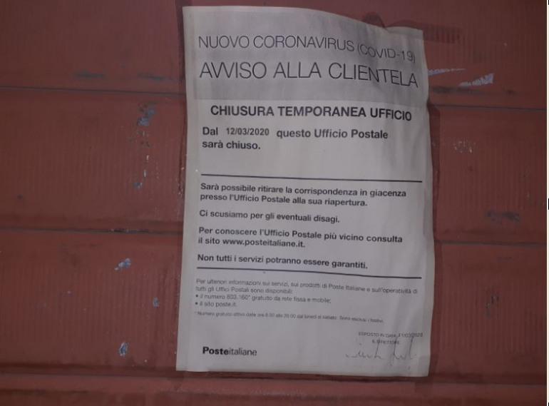 Poste Italiane chiude l'ufficio a Villa San Michele: anziani senza pensione, senza spesa e con le utenze scadute