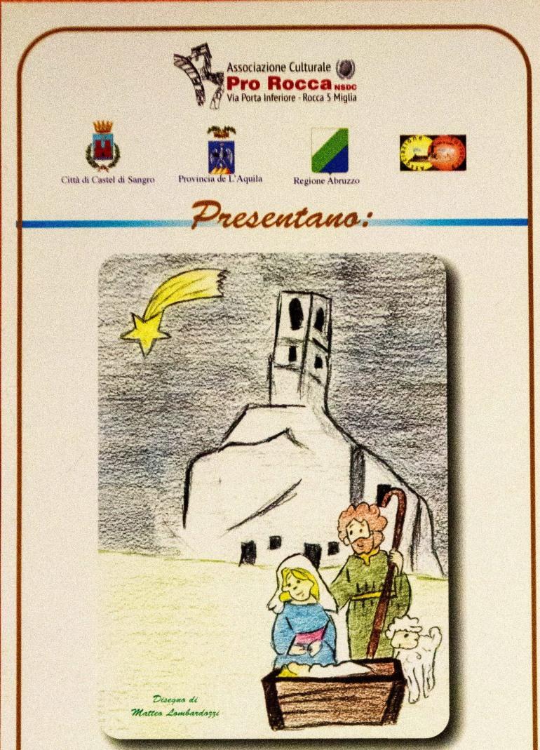 Roccacinquemiglia, sabato 19  dicembre:  1^ edizione del presepe a dimensioni reali