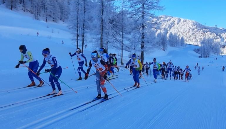 Pragelato: Coppa Italia Giovani sci di fondo, dura prova per gli atleti dei comitati centro-sud Italia