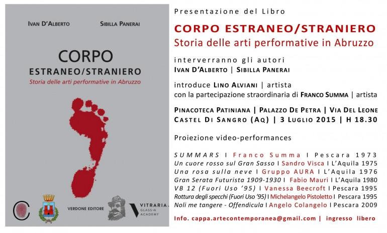 'Storia delle arti performative in Abruzzo', venerdì 3 luglio la presentazione a Castel di Sangro