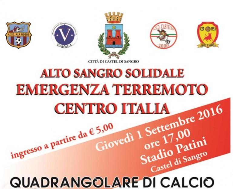 Solidarietà – A Castel di Sangro si organizza un quadrangolare di calcio