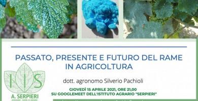 """Rame in agricoltura: Istituto Agrario """"A. Serpieri"""", riflessione sul """"Passato, presente e futuro"""""""