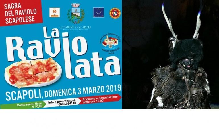 Il carnevale dell'Alta Valle del Volturno si festeggia con la Raviolata e Gl'Cierv