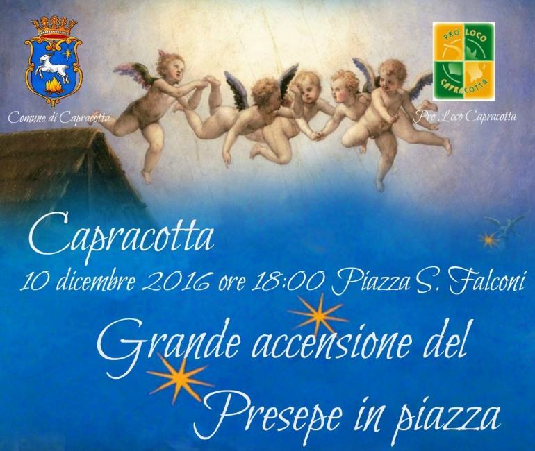 Capracotta, accensione presepe e cena di solidarietà a favore di Castelluccio