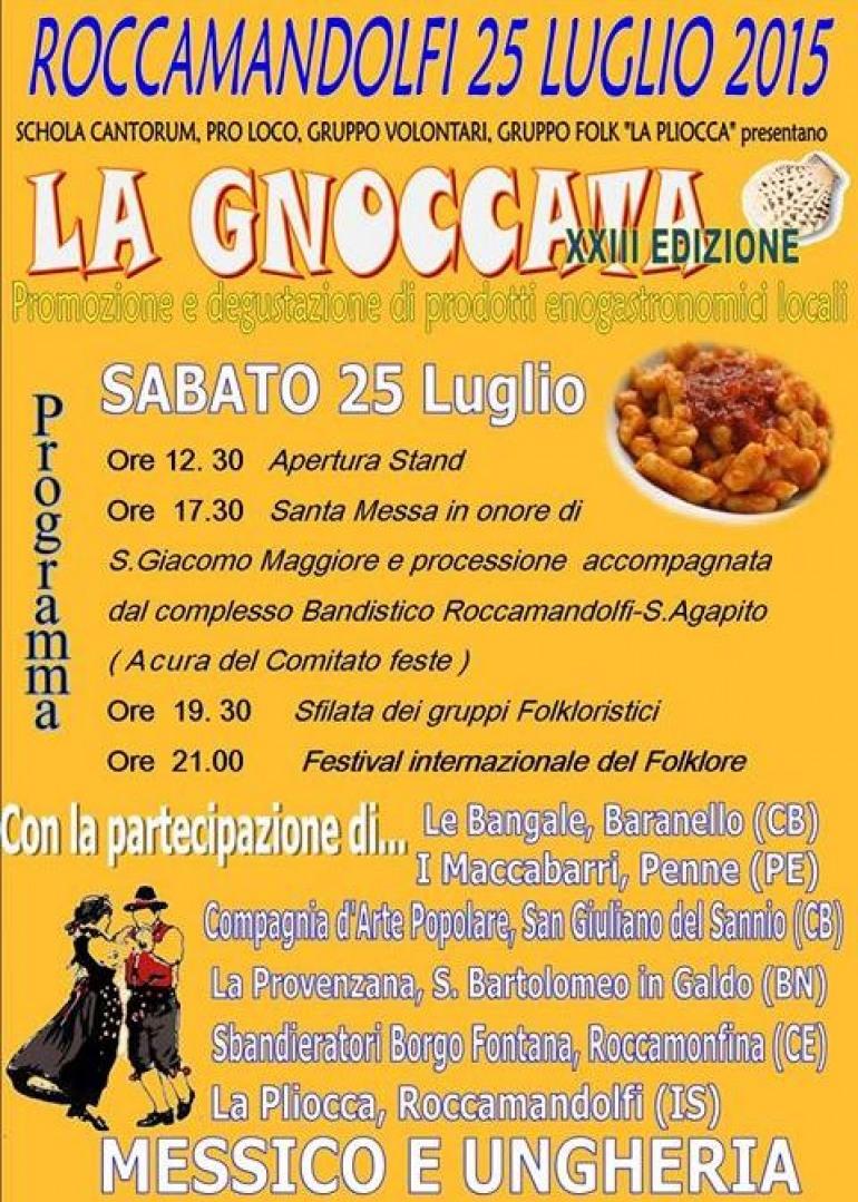 """Roccamandolfi,  domani """"gnoccata"""" e gruppi folk"""