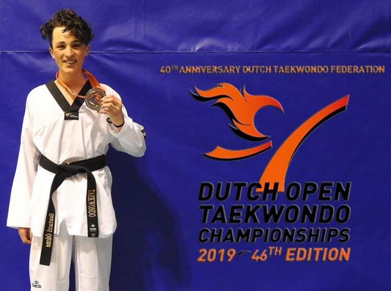 Taekwondo, Odone Santucci conquista l'argento agli open in Olanda