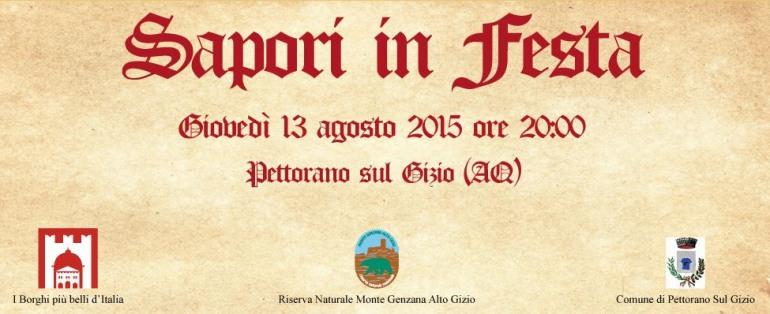 Pettorano sul Gizio, i piatti della tradizione a 'Sapori in Festa'