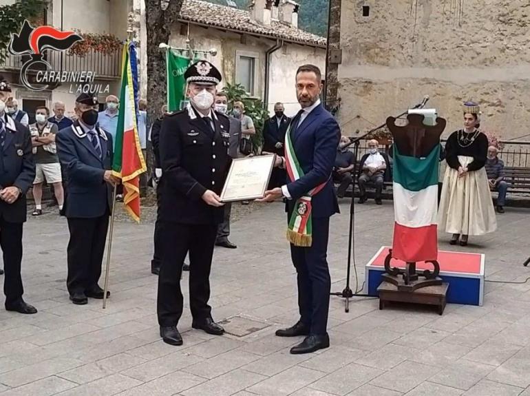 Scanno, Cittadinanza Onoraria all'Arma dei Carabinieri nel 150° anniversario della medaglia d'argento al V.M.