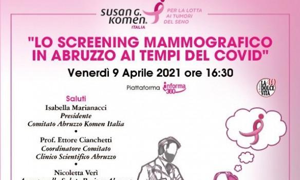 Lo screening mammografico in Abruzzo ai tempi del Covid