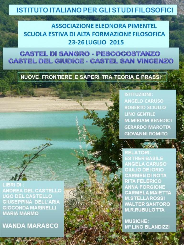 Abruzzo e Molise a scuola di alta formazione filosofica
