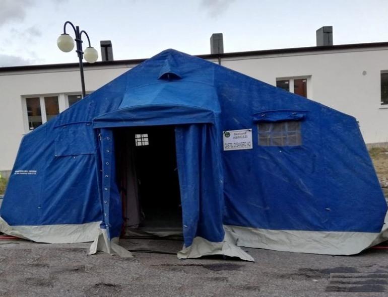 Coronavirus Castel di Sangro, paziente trasportato urgentemente a L'Aquila