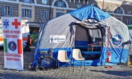 Coronavirus - Ospedale Caracciolo, pronta la tenda triage della protezione civile
