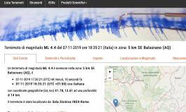 Scossa di terremoto registrata in Alto Sangro
