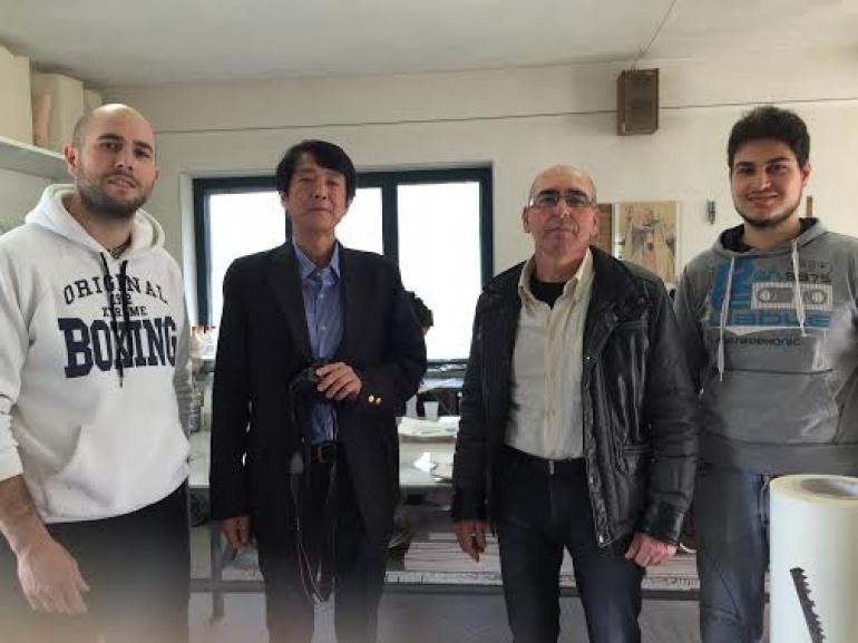 Dal Giappone a Montaquila per vedere l'artigianato dei Zaccarella