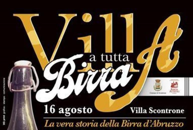 """""""Villa a tutta birra"""", il 16 agosto con i birrifici artigianali di Abruzzo e Molise a Villa Scontrone"""