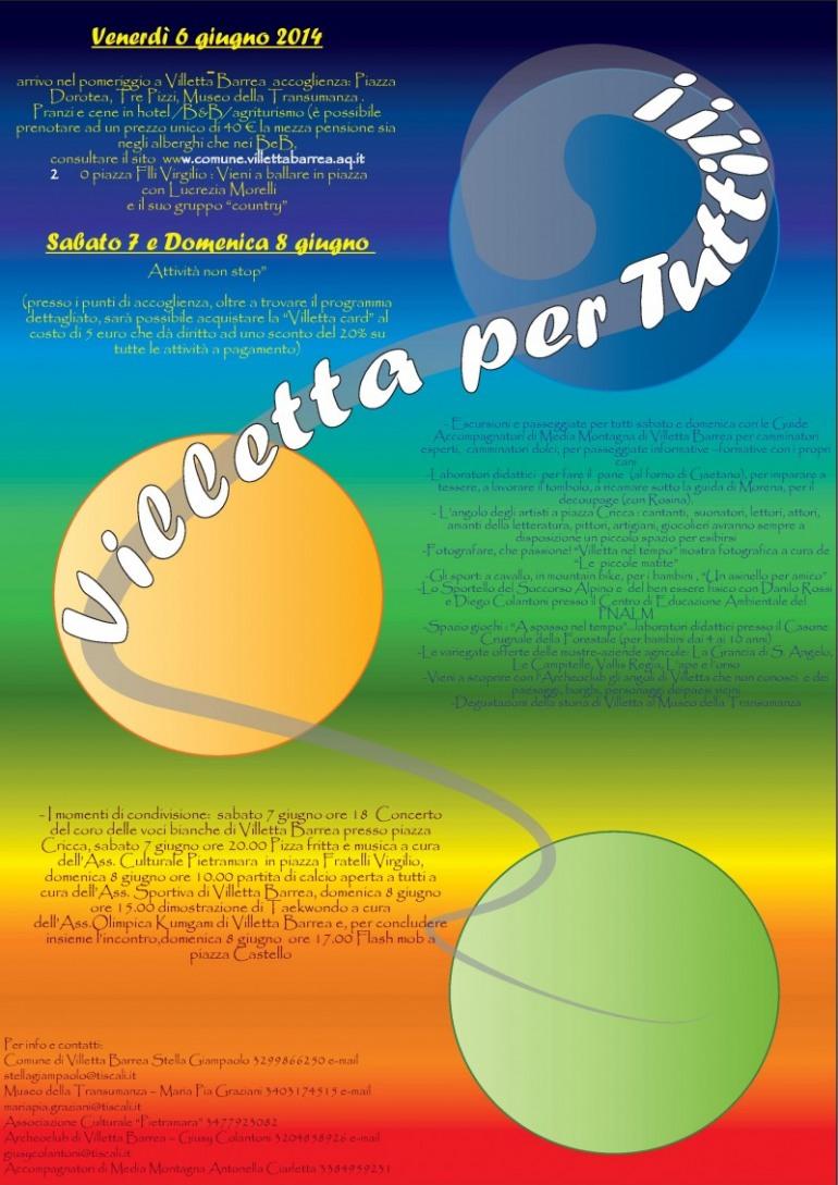 Villetta Barrea, Turismo per tutti i gusti dal 6 all'8 giugno.