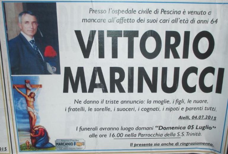 Carabinieri in lutto per la morte di Vittorio Marinucci, ex comandante della Stazione di Alfedena