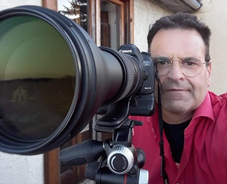 Gli scatti dell'eclissi lunare eseguiti da Vittorio Labanca